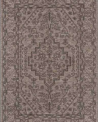 Šedohnědý venkovní koberec Bougari Tyros, 140 x 200 cm