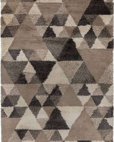 Šedohnědý koberec Flair Rugs Nuru, 60 x 230 cm