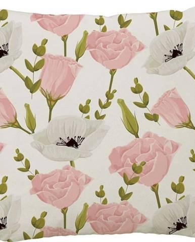 Polštář Butter Kings Pink Roses, 50 x 50 cm