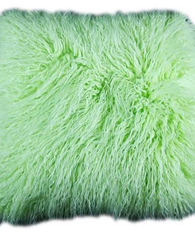 Povlak na polštář 45x45 chlup Tibet zelená