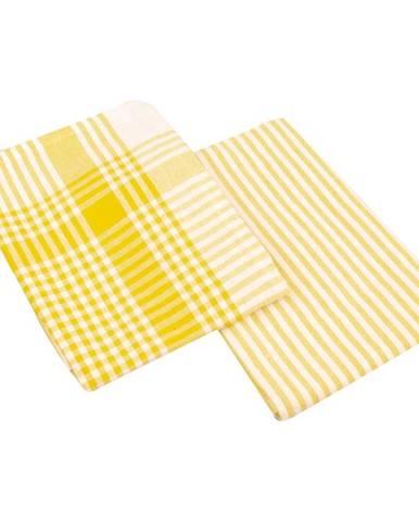 Utěrka Viola 45x70 žlutá set 2 ks