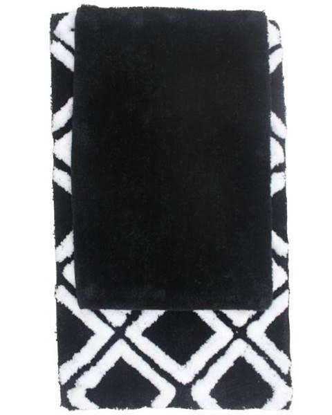 BAUMAX Sada koberečků Černá 80x50cm a 60x40cm