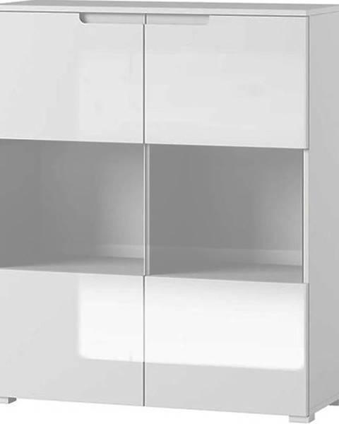 BAUMAX Vitrína Selene 100cm Bílá Mat/Bílá Lesk