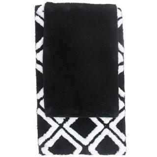 Sada koberečků Černá 80x50cm a 60x40cm