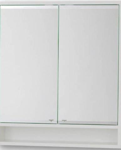Závěsná skříňka se zrcadlem bílá Viki 70