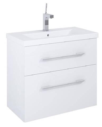 Skříňka s umyvadlem bílá Amoria 0D2S 80
