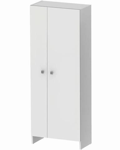Vysoká skříňka bílá Rubid 2D0S 60