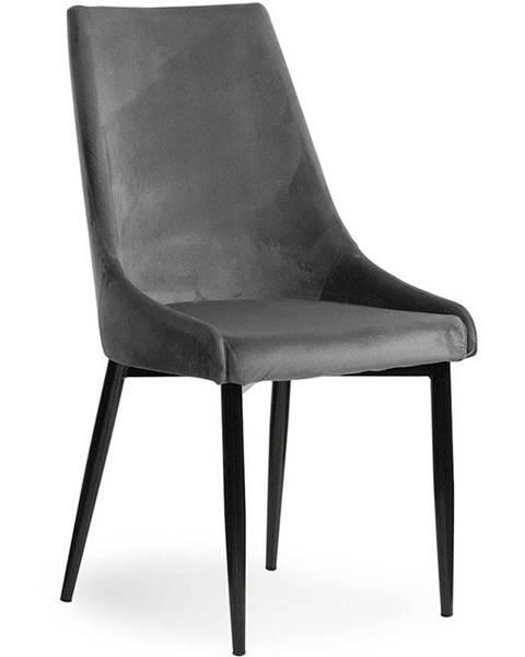 BAUMAX Židle Luis Velvet Šedá