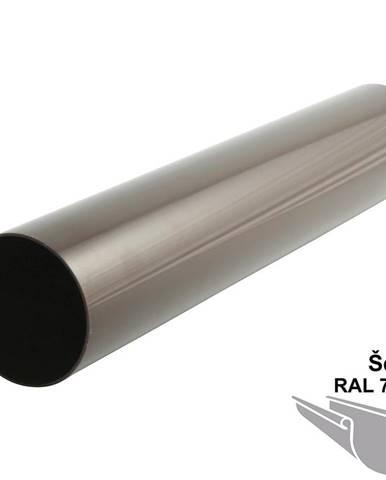 Svodová trubka dn 105 1 m  šedá