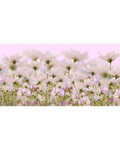 Dekor skl. bílé květiny 1 20/50