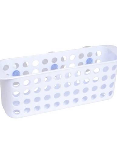 Košík PVC plochý s přísavkami white kpw0300
