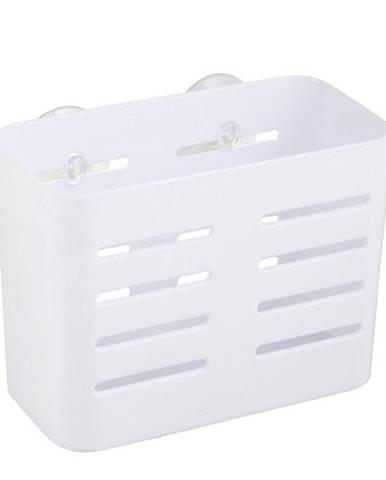 Košík PVC plochý s přísavkami white Yapi-kp-wht