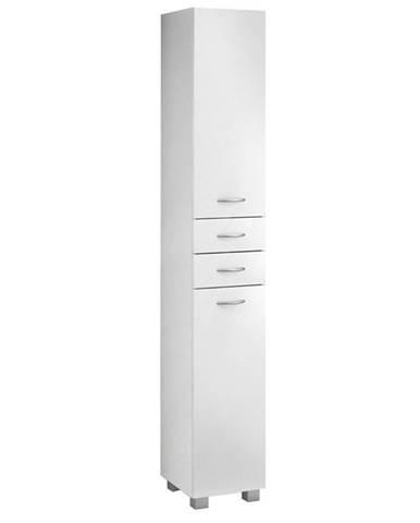 Vysoká skříňka bílá Pik 2D2S 30