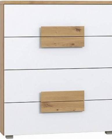 Komoda Arkina 80 cm, dub artisan/bílá