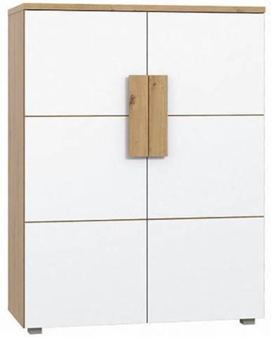 Komoda Arkina 90 cm, dub artisan/bílá