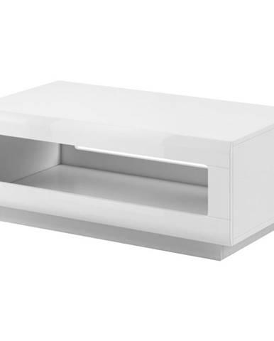 Konferenční Stolek Tulsa 110 cm Bílá Lesk