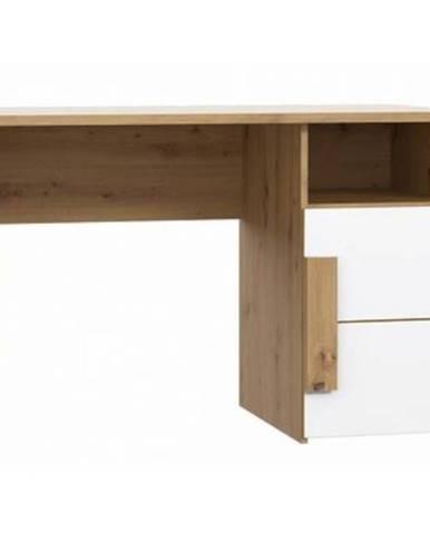 Psací stůl Arkina 110 cm, dub artisan/bílá
