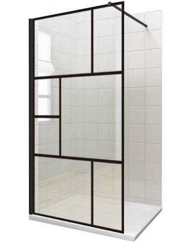 Sprchová zástěna WALK-IN NOTTE 100 x 195 černá