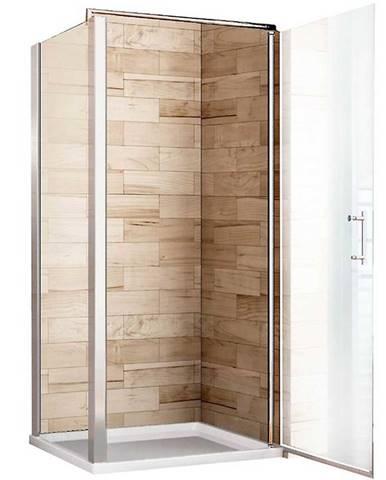 Sprchový kout Atena 80x80x190 čiré sklo - chrom