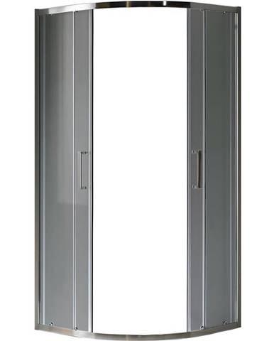 Sprchový kout čtvrtkruhový Aura 80x80x190 grafitové-chrom
