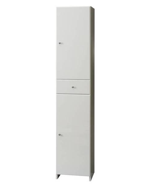 BAUMAX Vysoká skříňka bílá Mercado 2D1S 35