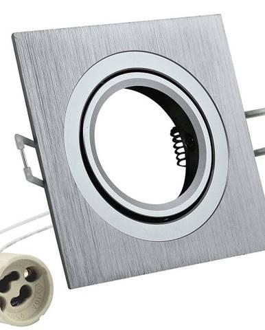 Čtvercové stropní světlo bodové Opal-IOA92S2 stříbrné