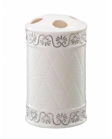 Kelímek na zubní kartáčky Castello bílá