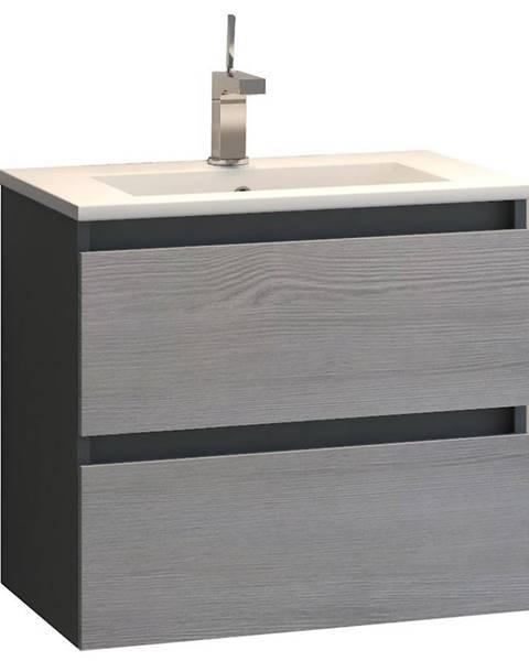 FACKELMANN Skříňka s umyvadlem antracit Spirit 521700 60