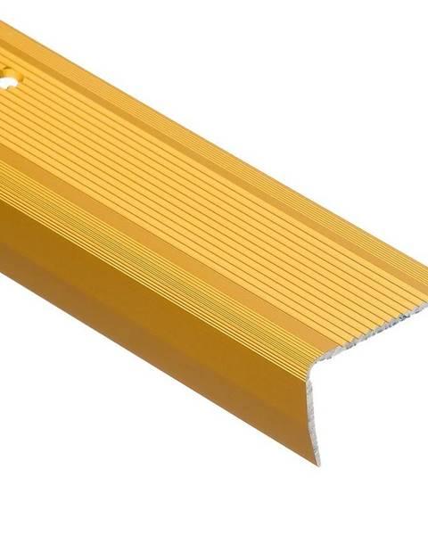 PARQUET MERCADO Schodový profil  drážkou LSR 40X25 2,5m zlatý