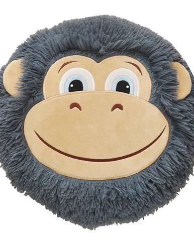 Polštář opice 32x30 šedá