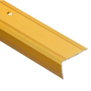 Schodový profil  drážkou LSR 40X25 2,5m zlatý