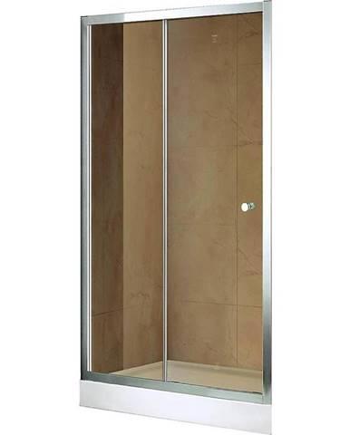 Dveře Vega 120x195 Hnědé-Chrom