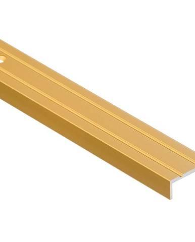 Schodový profil úzký LSW 10X25 1,0 C23 zlatý