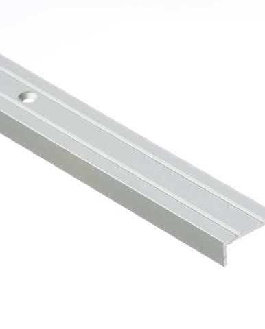 Schodový profil úzký LSW 10X25 1,0 stříbrny