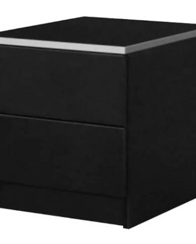 Noční Stolek Vista 40 cm Černá