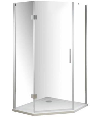 Sprchový kout pětiúhelník verdi 90/90/185 čiré sklo