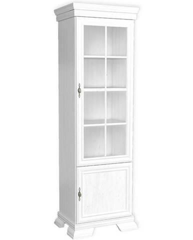 Vitrína Kora 58cm Bílá, KRW1