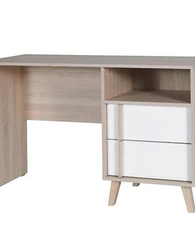 Psací Stůl Malmo 125 cm Dub Sonoma/Bílá