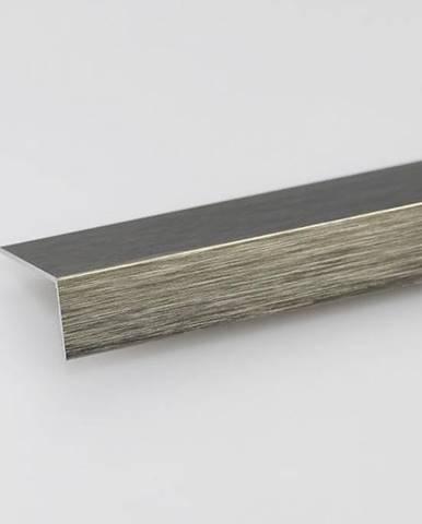 Rohový Profil ALU Kartáčovaný Titan 20x20x2000
