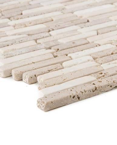 Mozaika Mugla Travertin beige noce Slimbrick 56064 26x28