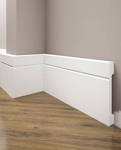 Podlahová lišta Elegance LPC-20-T101 bílá satén
