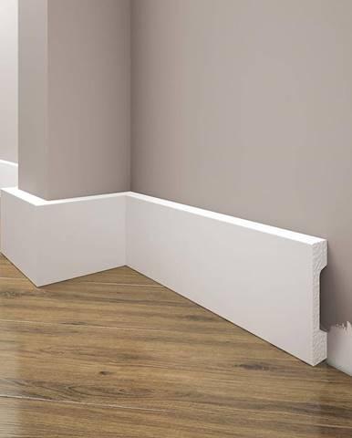 Podlahová lišta Elegance LPC-23-T101 bílá satén