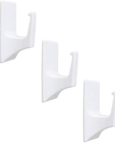 Věšák plastový bílý 3ks rct