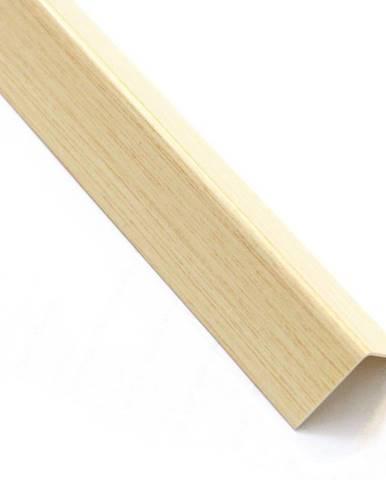 Rohový Profil Samolepící  PVC Světlé Dřevo 19,5x19,5x1000