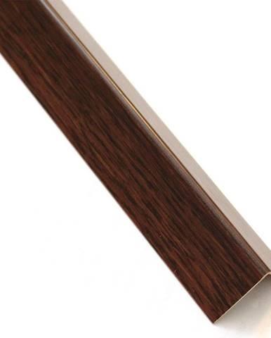 Rohový Profil Samolepící  PVC Tmavé Dřevo 19,5x19,5x1000