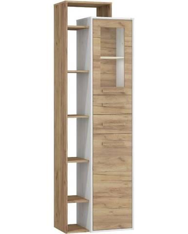 Vitrína Rio 64cm Dub Craft Bílý/Zlatý L1D2S