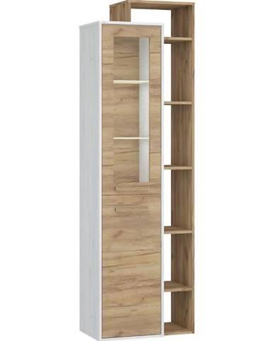 Vitrína Rio 64cm Dub Craft Bílý/Zlatý P1D