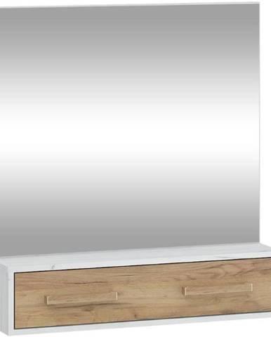 Zrcadlo Rio 84cm Dub Craft Bílý/Zlatý