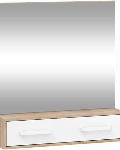 Zrcadlo Rio 84cm Světlý Dub Sonoma/Bílý