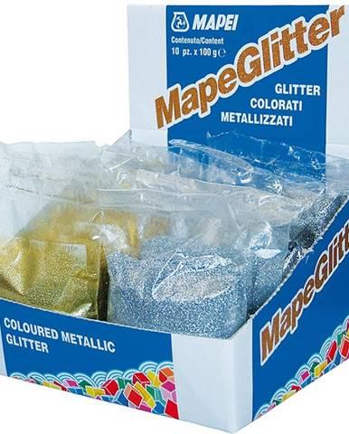 Metalické třpytky Mapeglitter stříbrné 100g